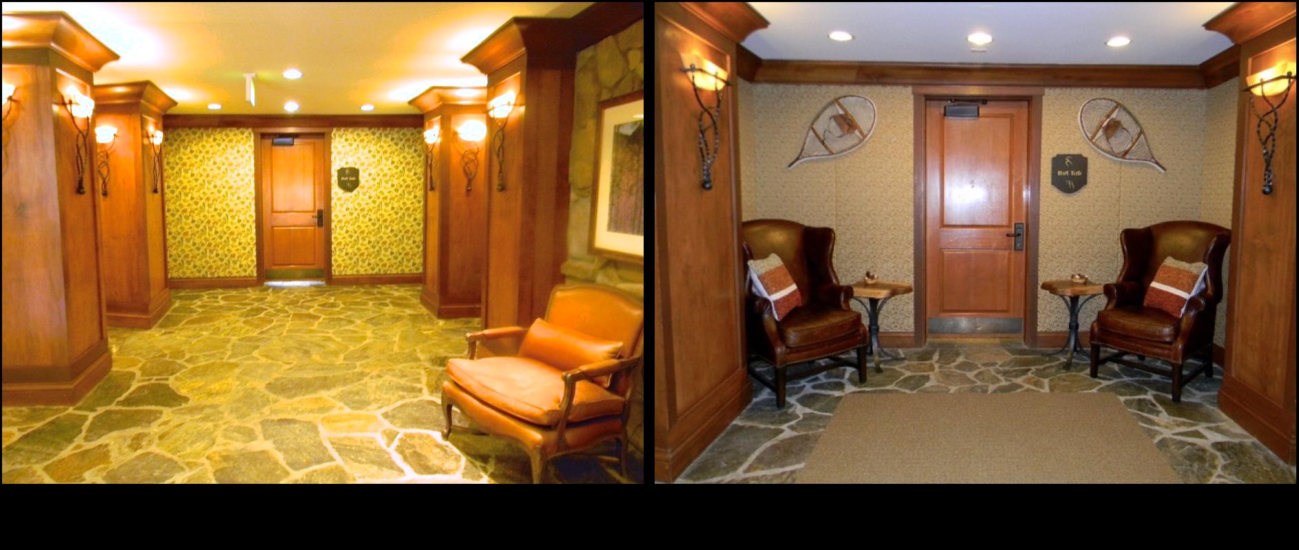 Mountain resort lobby jda interior design llc for A r interior decoration llc